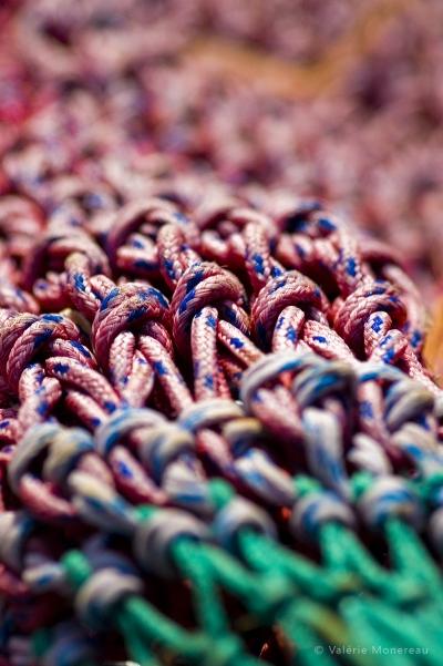 valerie monereau, cordages, filet de peche, noeud marin, boulogne sur mer